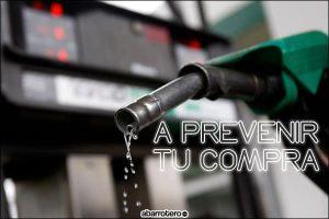 menos gasolina